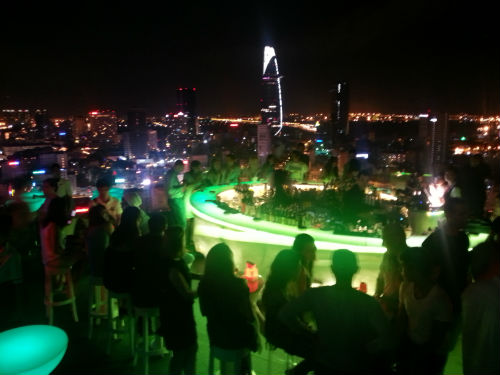 Scenic views from the Ho Chi Min roof top bar in Vietnam, which Rio has visited. (Picture courtesy of Rio Lim).