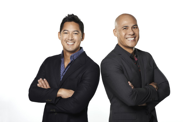 Asia's Got Talent hosts, Marc Nelson and Rovilson Fernandez. Photo Credit: AXN.