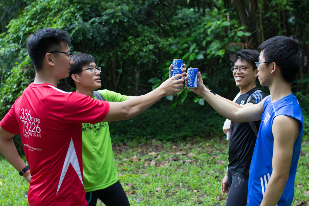 Sponsors such as Pocari Sweat Singapore have helped the quartet. [Photo courtesy of Mental Muscle]