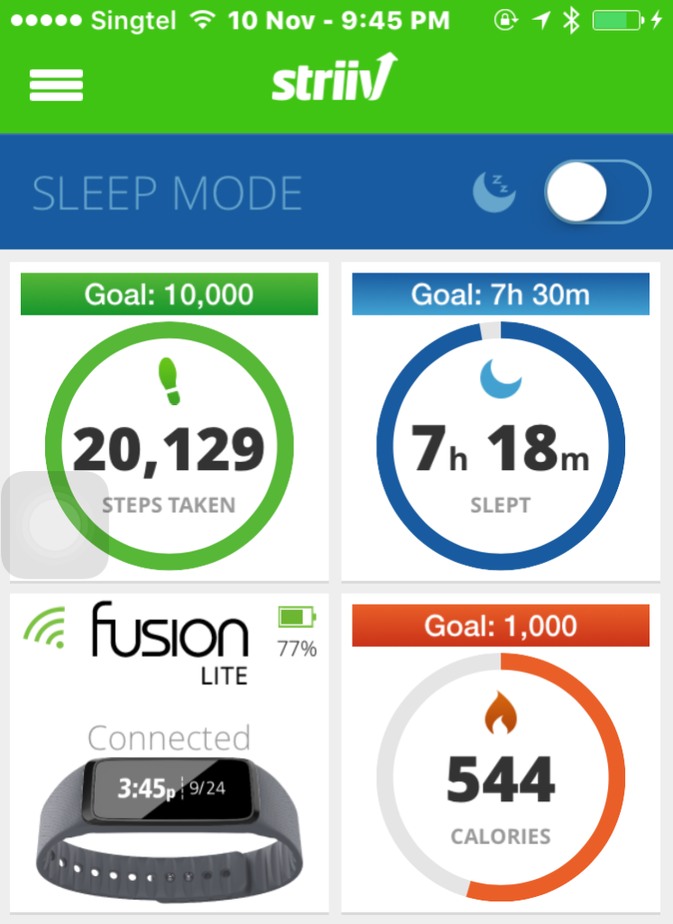 The tracker is pretty accurate in tracking your steps taken daily.