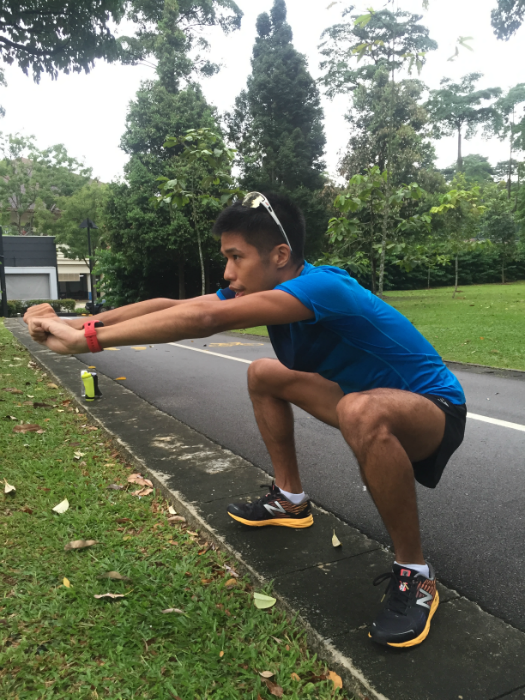 Elite runner Marcus Ong led us through a dynamic warm up session.
