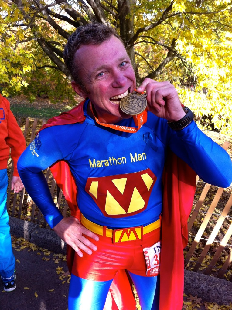 Ahh, the great feeling of completing another marathon! (New York Marathon, 2013).