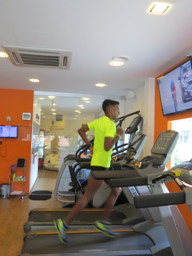 Raviin's exercise regime focuses on endurance running. [Photo courtesy of ASICS].