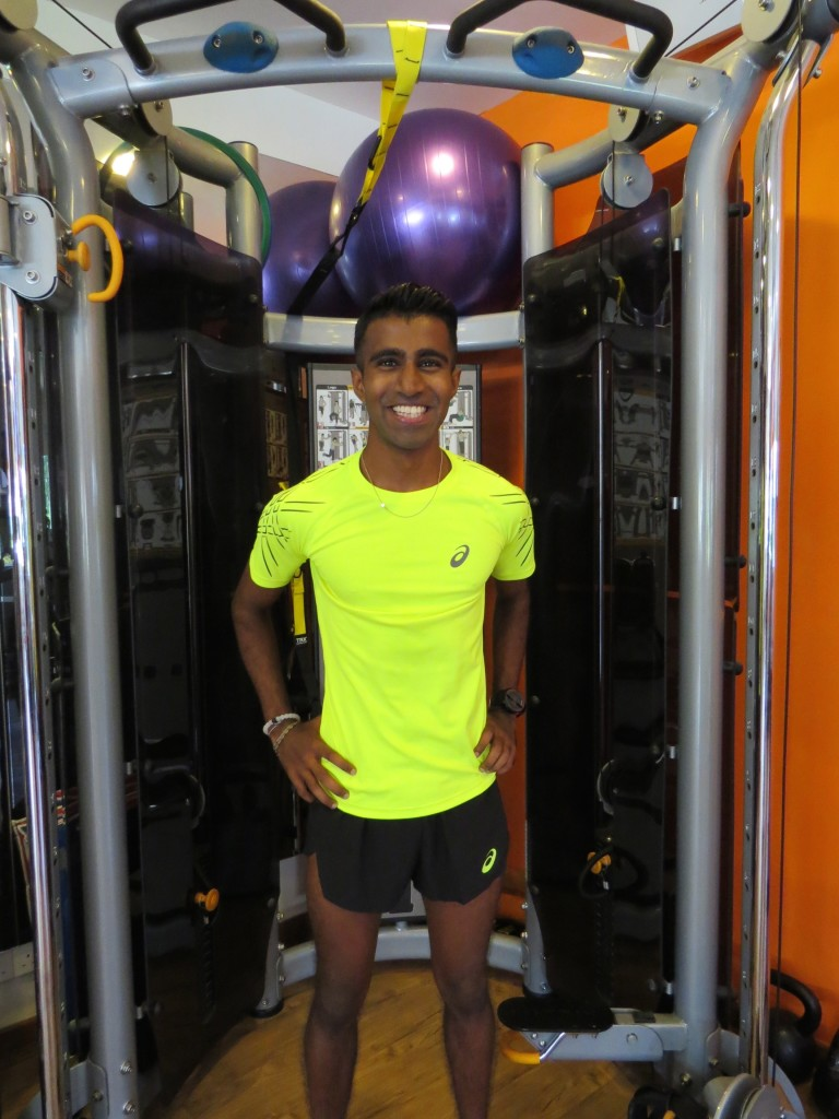 Raviin is eagerly looking forward to the challenge. [Photo courtesy of ASICS].