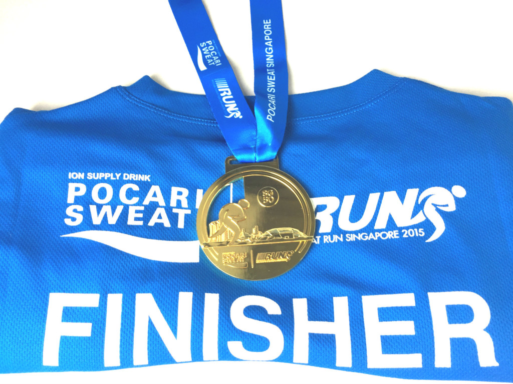 Souvenirs from Pocari Sweat Run.