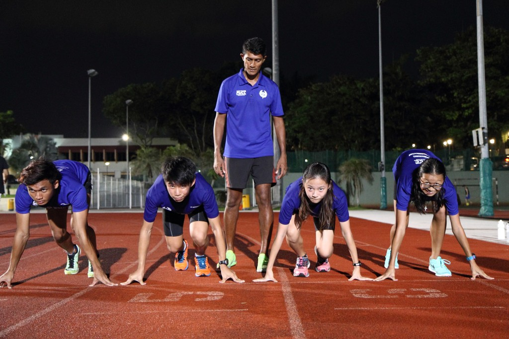 Coach Fabian Williams puts his proteges through their drills. [Photo Credit: FWCC Pte Ltd/Shawn Wee]