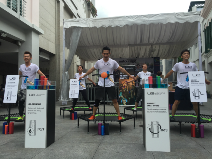 The UE activation event took place at Bugis Junction yesterday.
