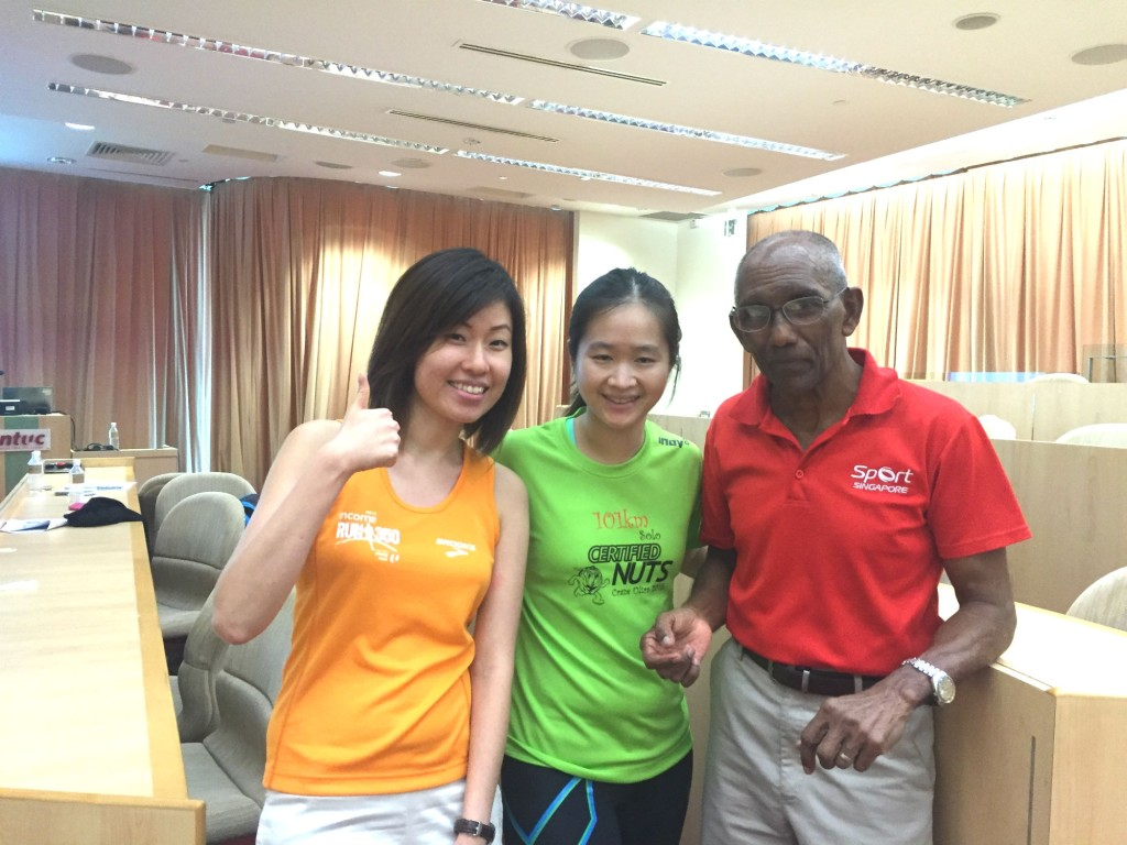 With Shennon from Young NTUC (left) and C. Kunalan (right).