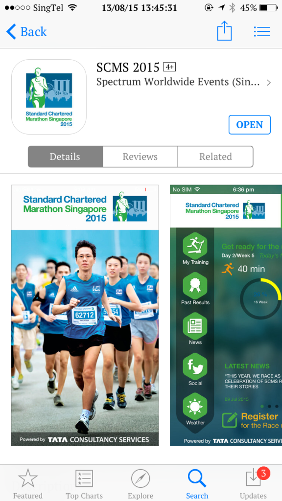 The StanChart Marathon 2015 app is free to download.