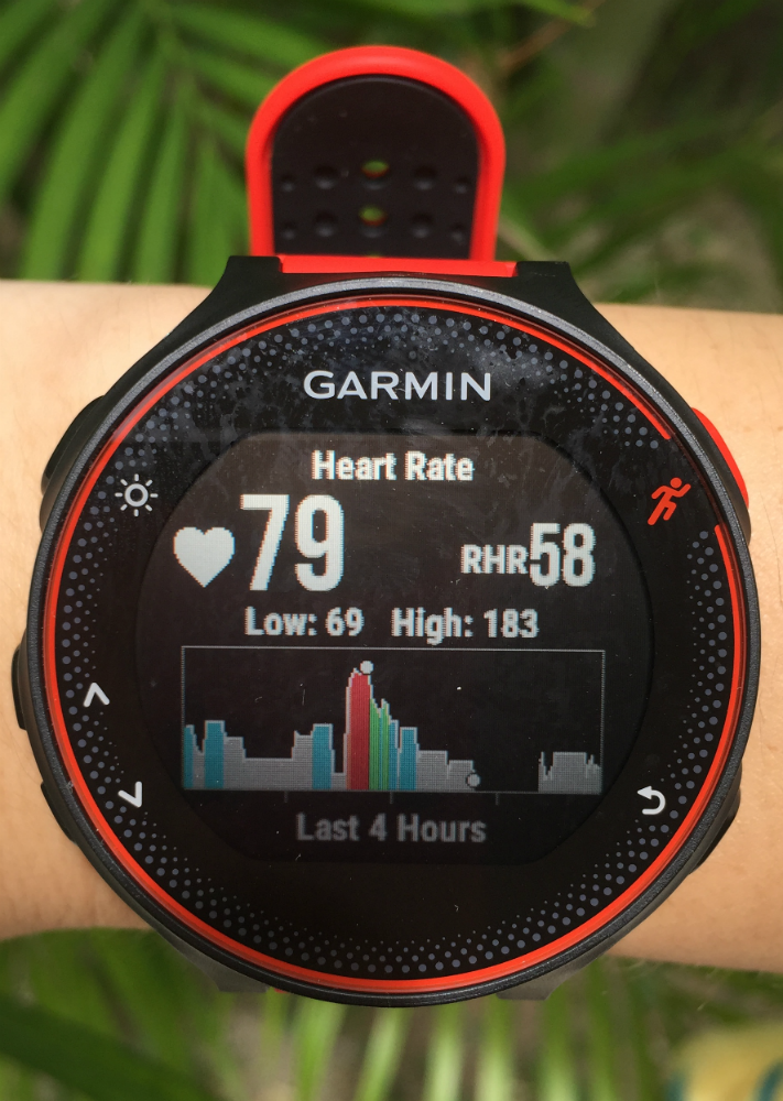 The Heart Rate Tracking is a pretty impressive feature of the Forerunner 235.