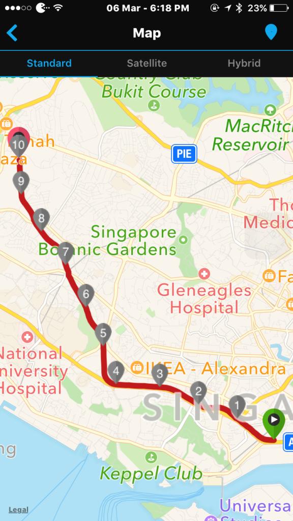 Green Corridor Run takes its participants from Tanjong Pagar Rail Station to Bukit Timah Rail Station.