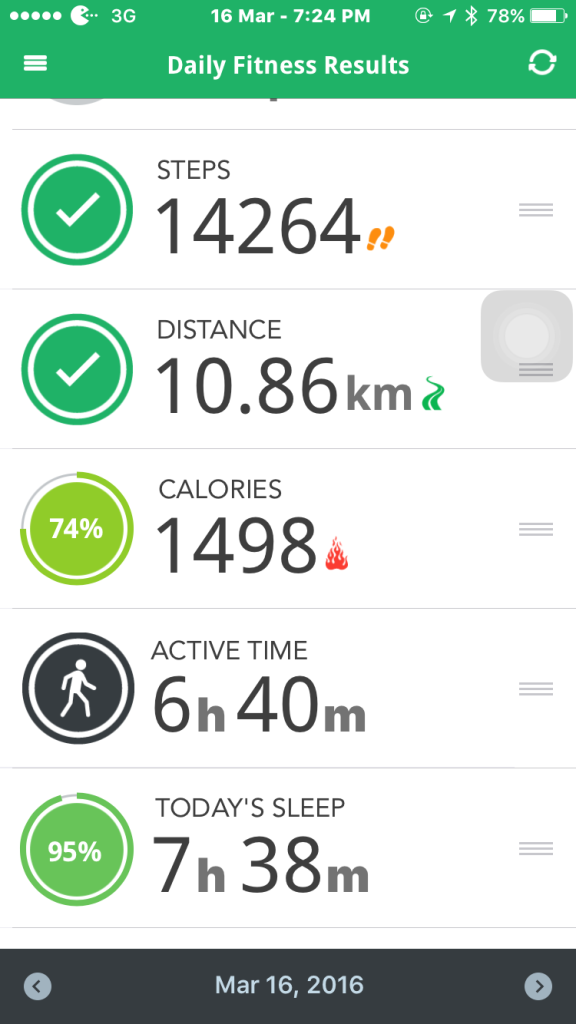 Get a summary of your activity levels through the LifeTrak app.