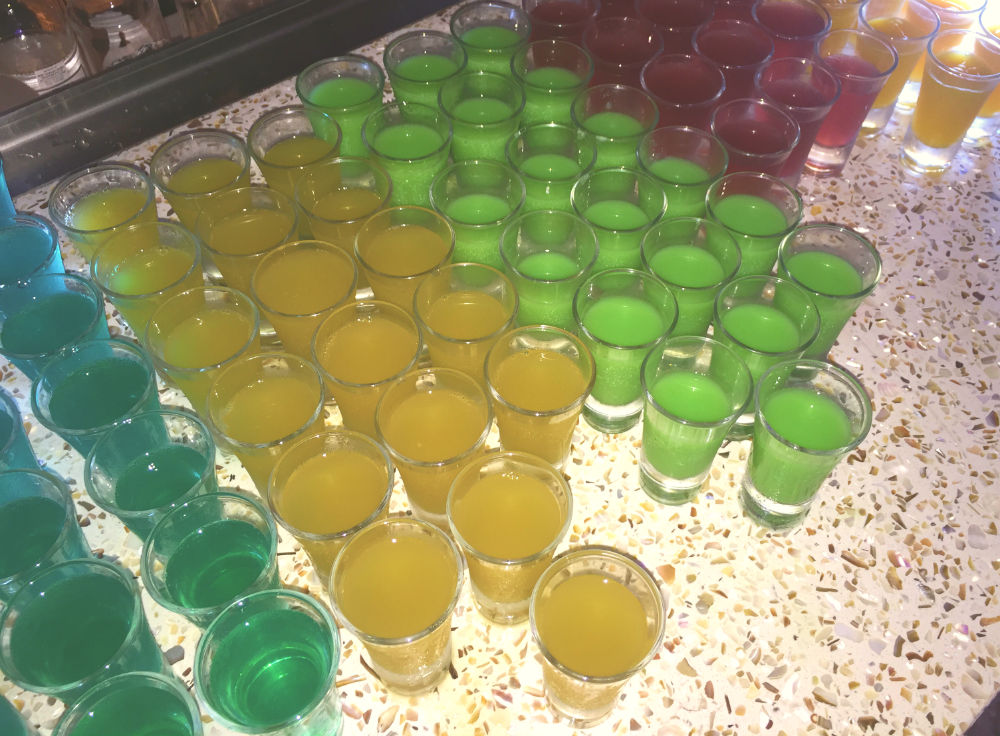 On event day there will be colourful mocktails to represent the 5 music zones.