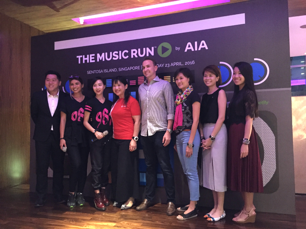 Organisers and sponsors of the MUSIC RUN at the press launch.