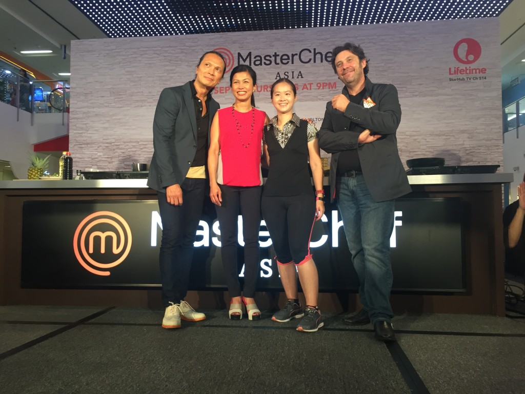 With the MasterChef Asia judges.
