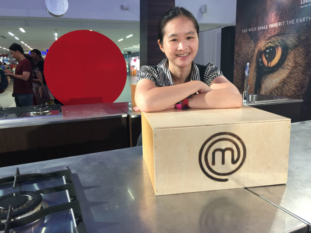 Posing with the MasterChef Mystery Box.