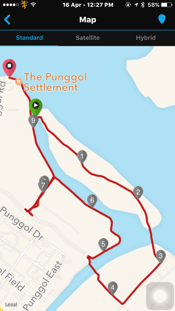 We began our run through Coney Island and then headed to the Punggol Promenade.