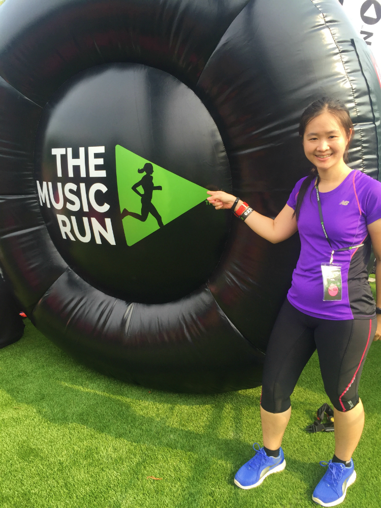 I took part in The Music Run this year.