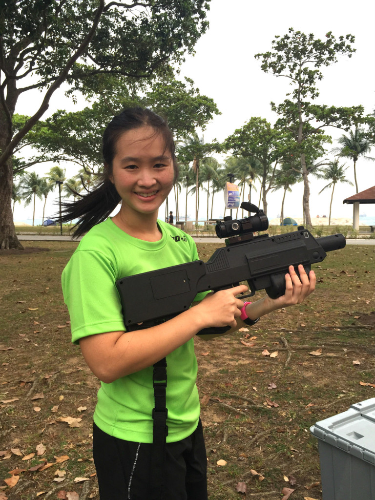 Me and the laser tag gun.