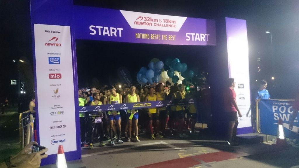 The Newton Challenge 32km category is about to flag off.