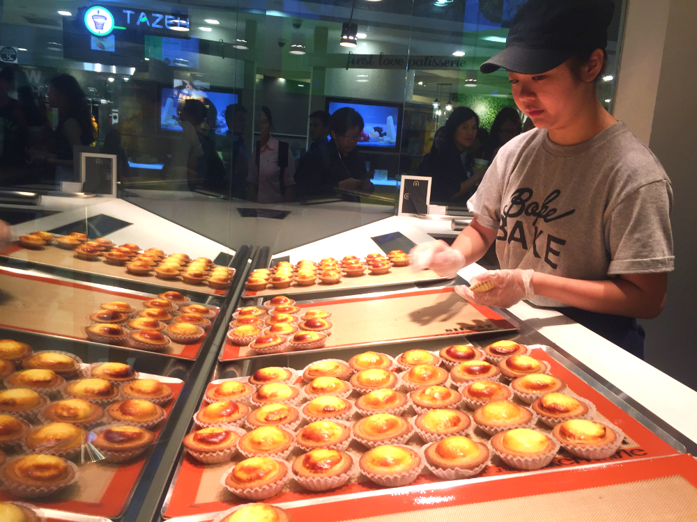 The process of making BAKE Cheese Tarts to feed hungry Singaporeans.