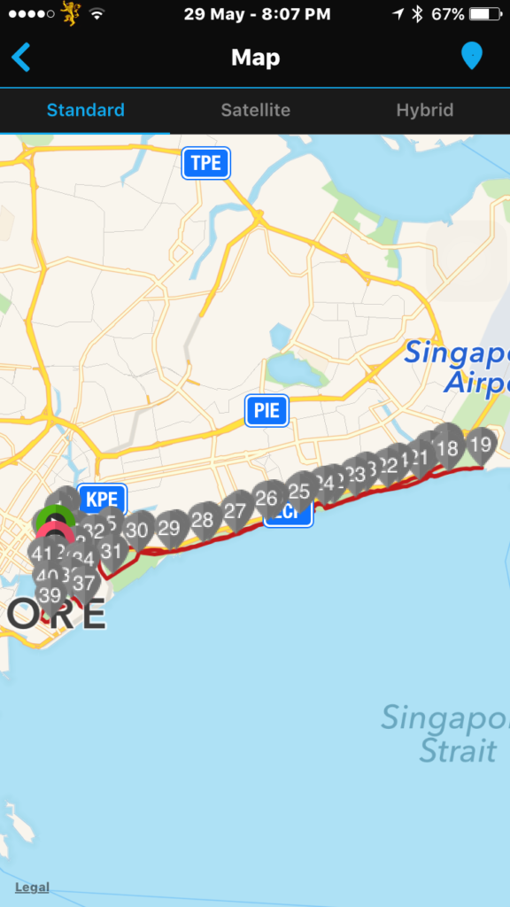 The Sundown Marathon race route.