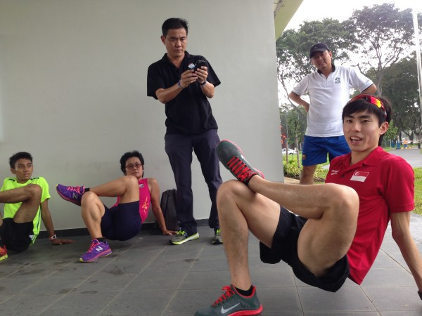 Soh Rui Yong at a running clinic last December in Singapore.