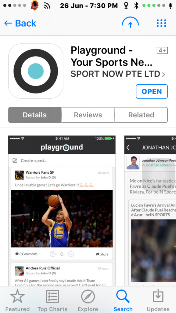 Playground is a free app for download on the Apple App Store. An Android version is coming at the end of the month.