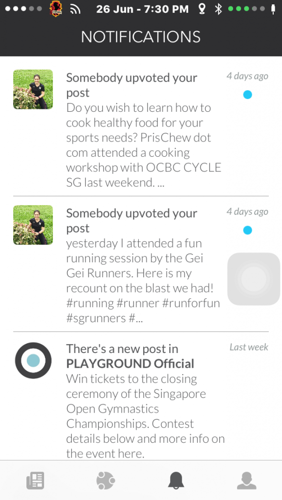 You can also scroll through your News Feeds on Playground, much like Facebook and Instagram.