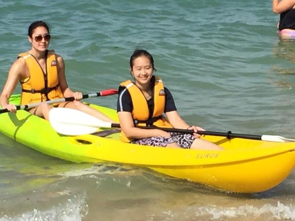 Having great fun in the kayak!