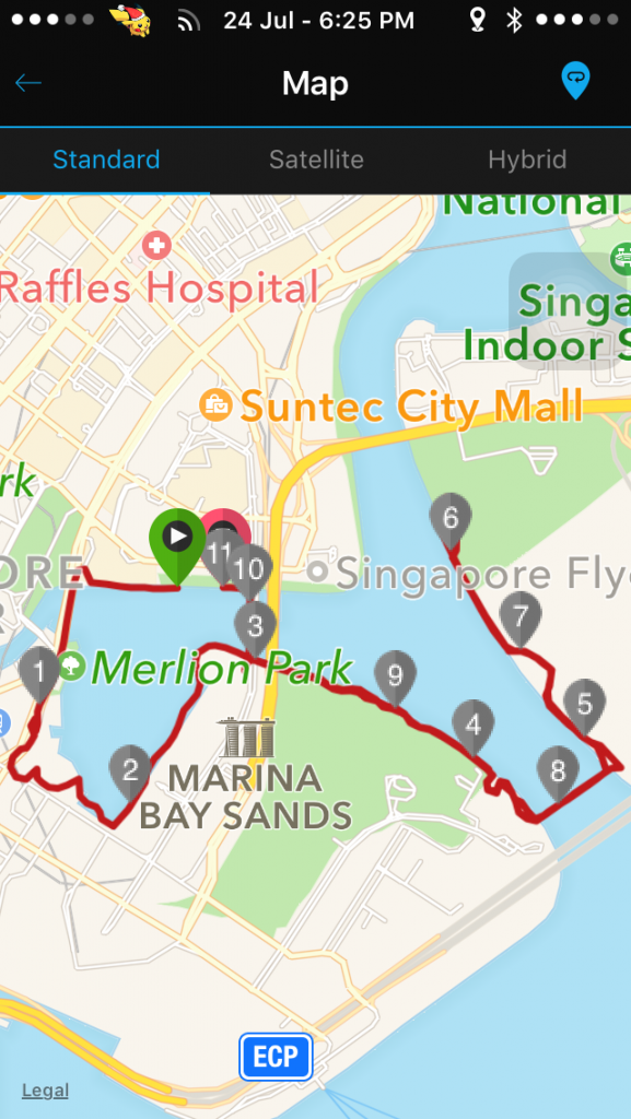 The running route was a scenic one.
