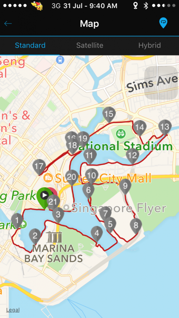 Running route was a familiar one to me.