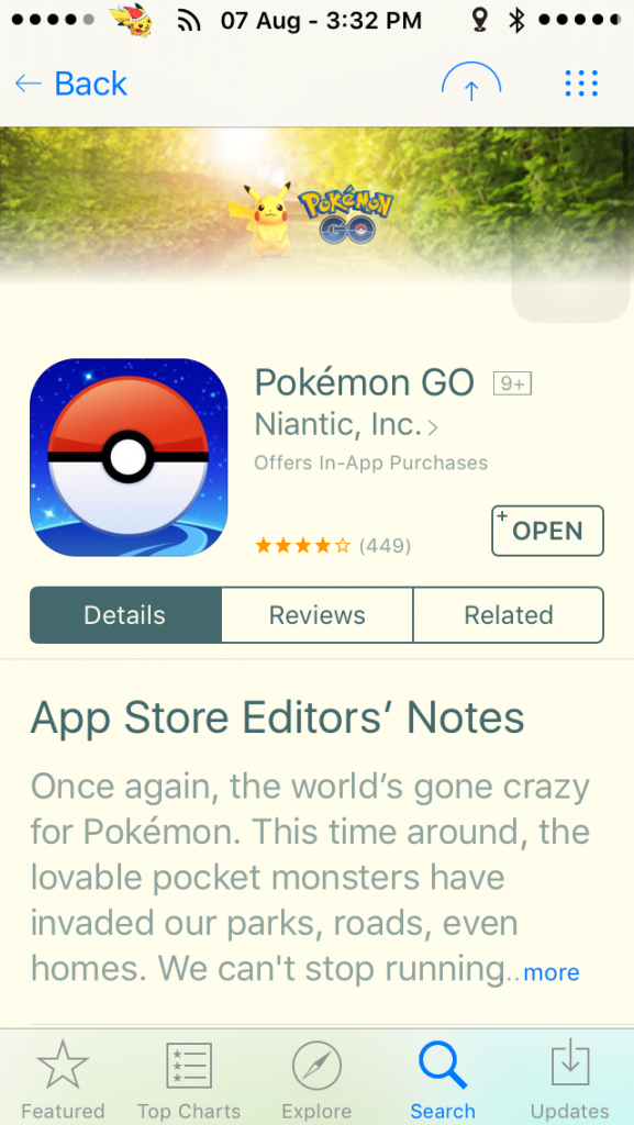 POKEMON GO is the hottest property on the Apple and Android app stores right now.
