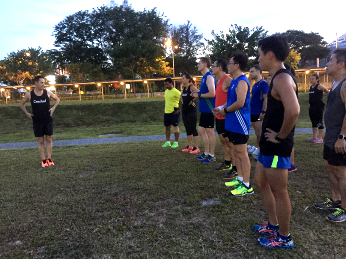 Sessions such as last Thursday's Technical Run, above, are free for Coached members.