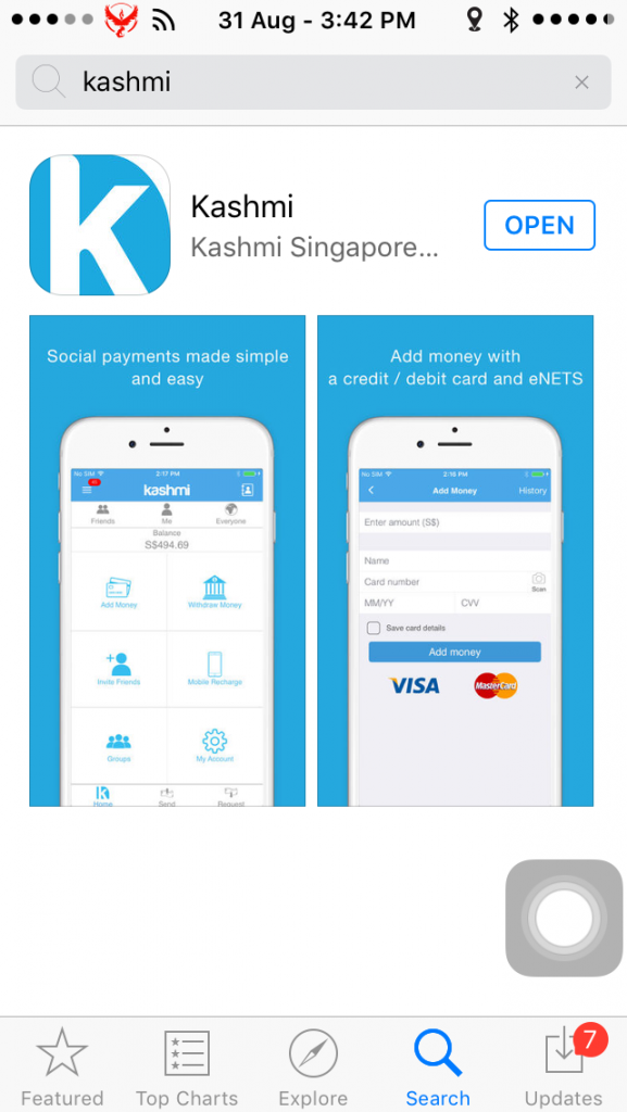 Despite its shortcomings, Kashmi has potential as an app.