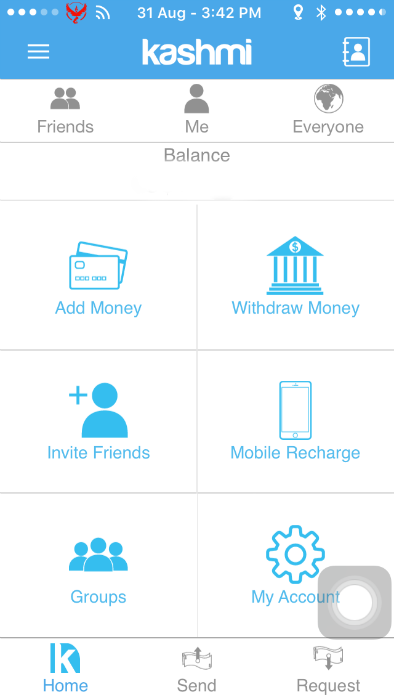 "Kashmi is billed as ""Singapore's first and only social payment app."""