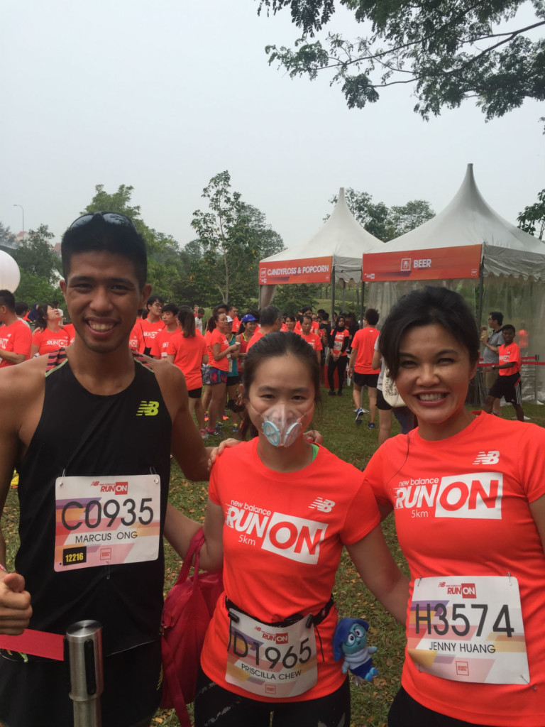 With two of Singapore's elite runners, Marcus Ong and Jenny Huang.