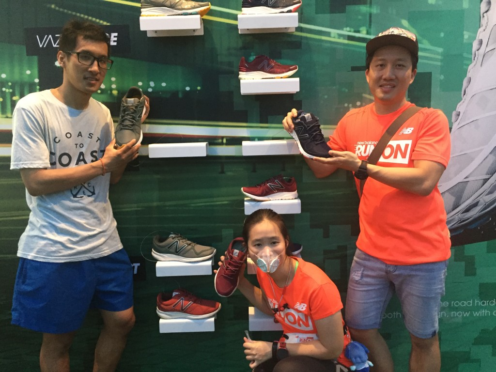 My friends and I pose for fun shots with the New Balance Vazee Pace shoes.