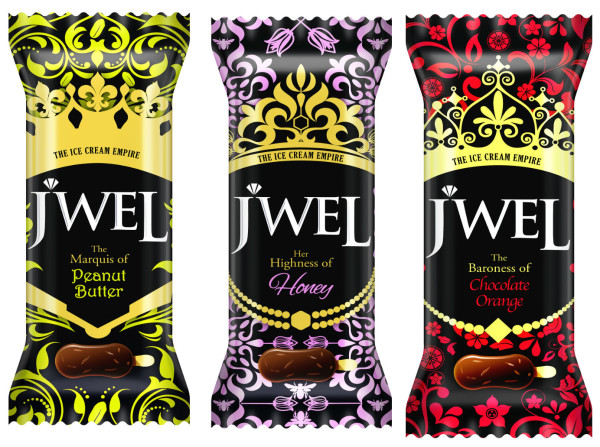 The new JWEL ice cream flavours. Credit: F&N.