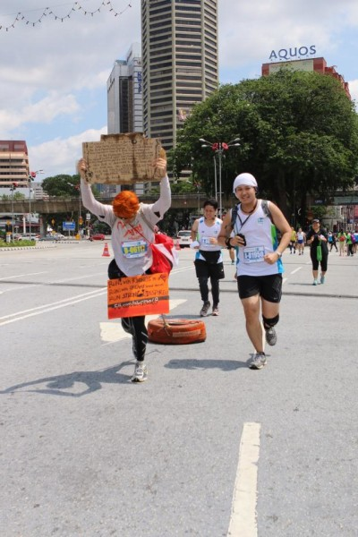 The tyre makes an appearance at the KL Marathon.