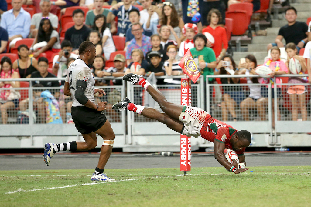 Kenya completely blew Fiji away. (Photo courtesy of World Rugby).