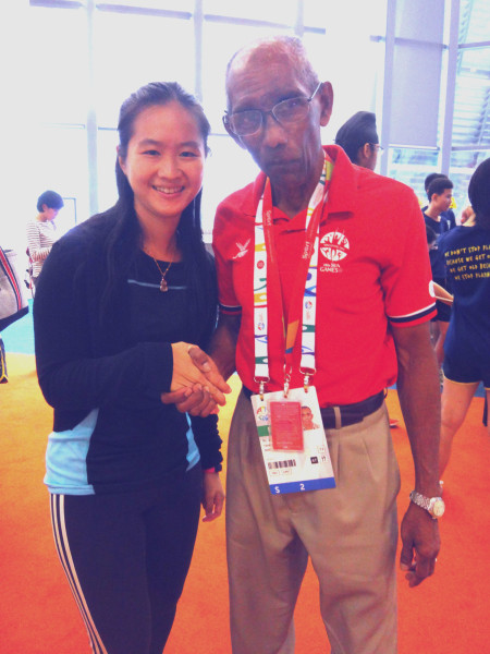 With sprinting legend C Kunalan.