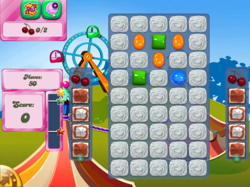 Level 181 of Candy Crush Saga.