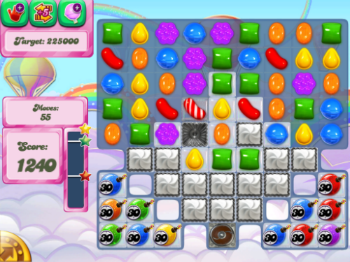 Level 434 of Candy Crush Saga.