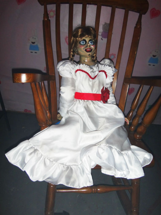 Be careful of that Annabelle doll.