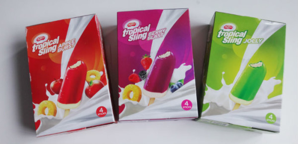 Magnolia's complete range of Tropical Sling ice creams.
