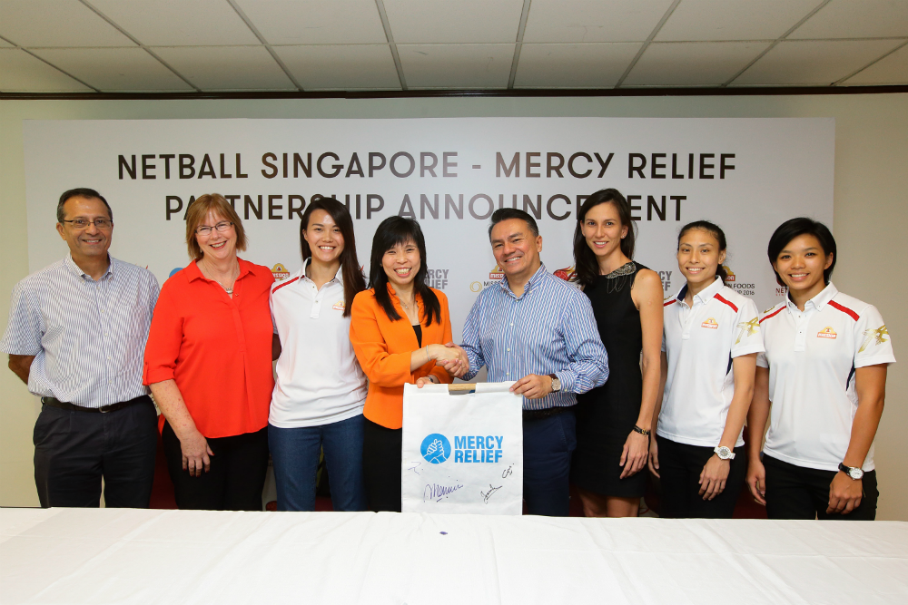 Mercy Relief has been chosen as Netball Singapore's official charity.