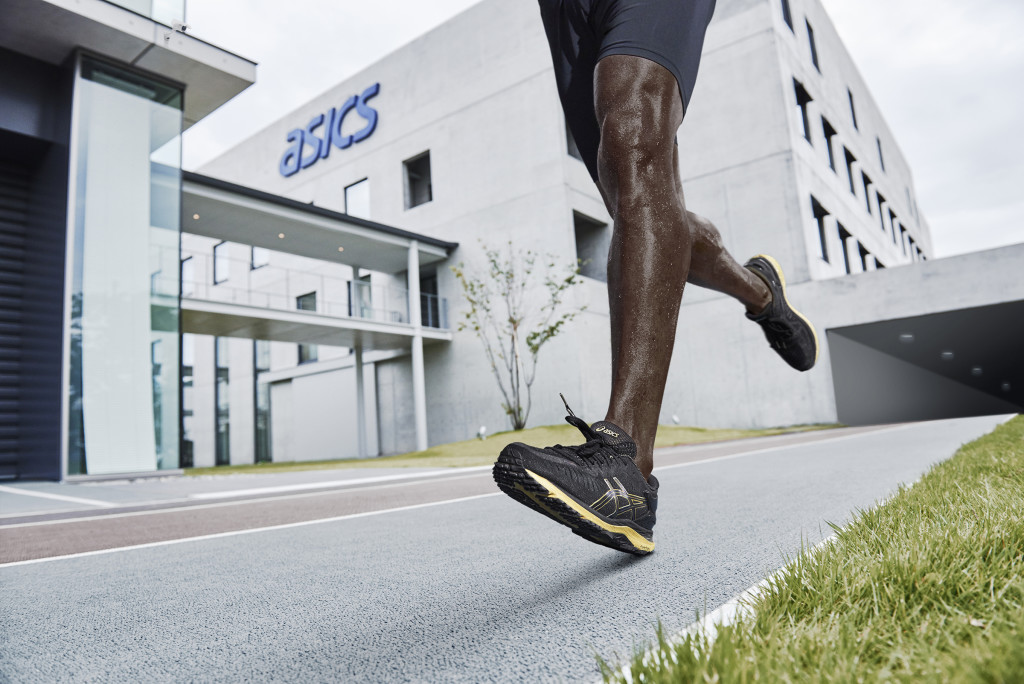 The shoes feel springy with plenty of cushioning. Photo by ASICS.