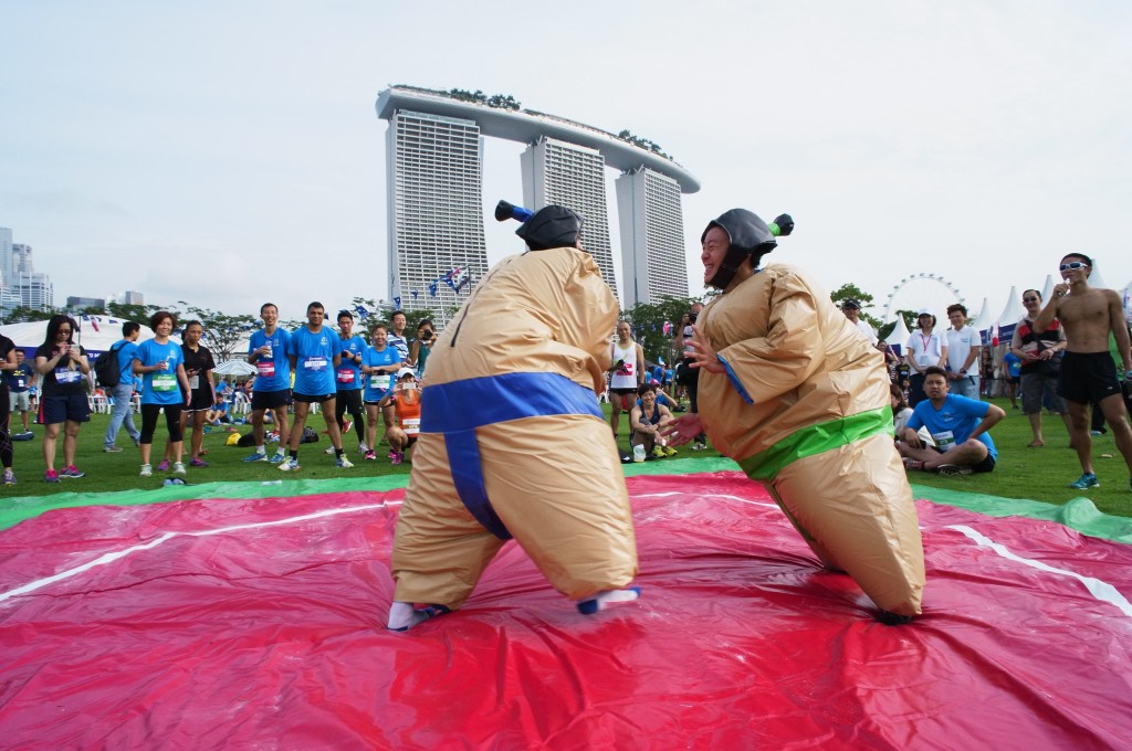 Sumo Wrestling was one of the fun activities last year. [Photo courtesy of Mizuno Ekiden]