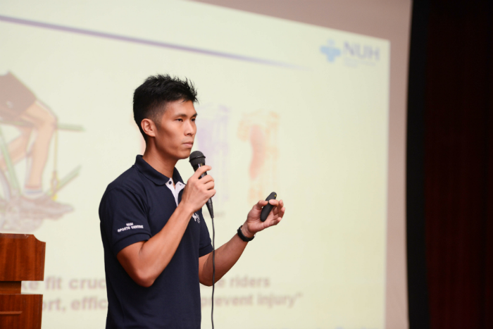 Mr Jeremy Mok shares more about choosing the right shoes and the various ways to look after one's feet. (Photo Credit: OCBC Cycle 2016)